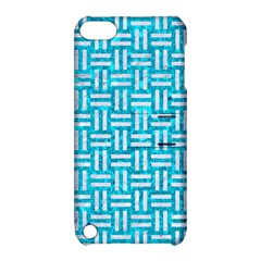 Woven1 White Marble & Turquoise Marble Apple Ipod Touch 5 Hardshell Case With Stand by trendistuff