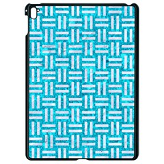 Woven1 White Marble & Turquoise Marble Apple Ipad Pro 9 7   Black Seamless Case by trendistuff