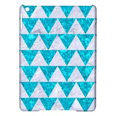 Triangle2 White Marble & Turquoise Marble Ipad Air Hardshell Cases by trendistuff