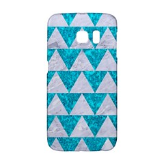 Triangle2 White Marble & Turquoise Marble Galaxy S6 Edge by trendistuff