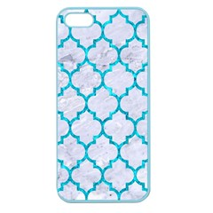 Tile1 White Marble & Turquoise Marble (r) Apple Seamless Iphone 5 Case (color) by trendistuff