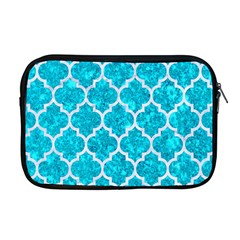 Tile1 White Marble & Turquoise Marble Apple Macbook Pro 17  Zipper Case by trendistuff