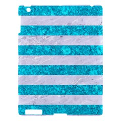 Stripes2white Marble & Turquoise Marble Apple Ipad 3/4 Hardshell Case by trendistuff