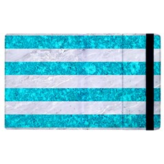 Stripes2white Marble & Turquoise Marble Apple Ipad 3/4 Flip Case by trendistuff