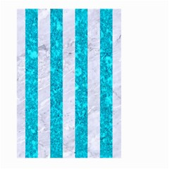 Stripes1 White Marble & Turquoise Marble Large Garden Flag (two Sides) by trendistuff
