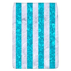 Stripes1 White Marble & Turquoise Marble Flap Covers (l)  by trendistuff