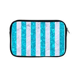 Stripes1 White Marble & Turquoise Marble Apple Macbook Pro 13  Zipper Case by trendistuff