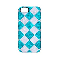 Square2 White Marble & Turquoise Marble Apple Iphone 5 Classic Hardshell Case (pc+silicone) by trendistuff