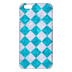 Square2 White Marble & Turquoise Marble Iphone 6 Plus/6s Plus Tpu Case by trendistuff