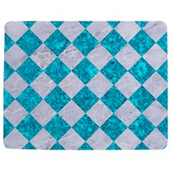 Square2 White Marble & Turquoise Marble Jigsaw Puzzle Photo Stand (rectangular)
