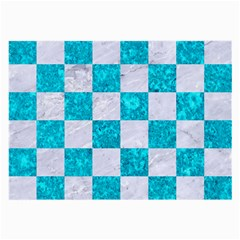 Square1 White Marble & Turquoise Marble Large Glasses Cloth by trendistuff