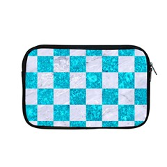 Square1 White Marble & Turquoise Marble Apple Macbook Pro 13  Zipper Case by trendistuff