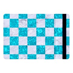 Square1 White Marble & Turquoise Marble Apple Ipad Pro 10 5   Flip Case by trendistuff