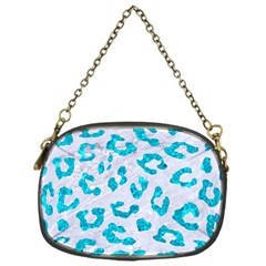 Skin5 White Marble & Turquoise Marble Chain Purses (one Side)  by trendistuff
