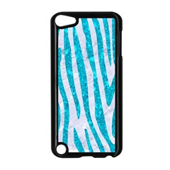 Skin4 White Marble & Turquoise Marble Apple Ipod Touch 5 Case (black) by trendistuff