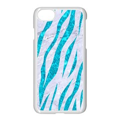 Skin3 White Marble & Turquoise Marble (r) Apple Iphone 8 Seamless Case (white) by trendistuff