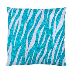 Skin3 White Marble & Turquoise Marble Standard Cushion Case (two Sides) by trendistuff