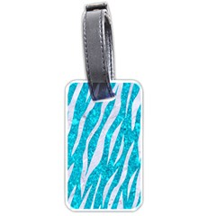 Skin3 White Marble & Turquoise Marble Luggage Tags (one Side)  by trendistuff