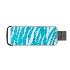 Skin3 White Marble & Turquoise Marble Portable Usb Flash (two Sides) by trendistuff