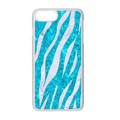 Skin3 White Marble & Turquoise Marble Apple Iphone 8 Plus Seamless Case (white) by trendistuff