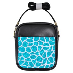 Skin1 White Marble & Turquoise Marble (r) Girls Sling Bags by trendistuff
