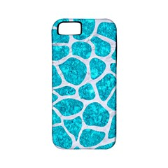 Skin1 White Marble & Turquoise Marble (r) Apple Iphone 5 Classic Hardshell Case (pc+silicone) by trendistuff