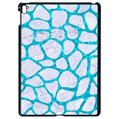 Skin1 White Marble & Turquoise Marble Apple Ipad Pro 9 7   Black Seamless Case by trendistuff