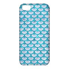 Scales3 White Marble & Turquoise Marble (r) Apple Iphone 5c Hardshell Case by trendistuff