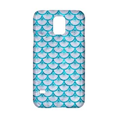 Scales3 White Marble & Turquoise Marble (r) Samsung Galaxy S5 Hardshell Case  by trendistuff