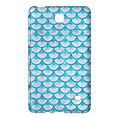 Scales3 White Marble & Turquoise Marble (r) Samsung Galaxy Tab 4 (8 ) Hardshell Case  by trendistuff