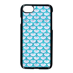 Scales3 White Marble & Turquoise Marble (r) Apple Iphone 7 Seamless Case (black) by trendistuff