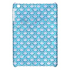 Scales2 White Marble & Turquoise Marble (r) Apple Ipad Mini Hardshell Case by trendistuff