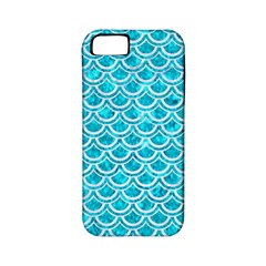 Scales2 White Marble & Turquoise Marble Apple Iphone 5 Classic Hardshell Case (pc+silicone) by trendistuff