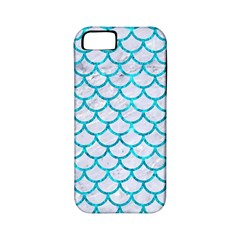 Scales1 White Marble & Turquoise Marble (r) Apple Iphone 5 Classic Hardshell Case (pc+silicone) by trendistuff