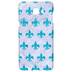 Royal1 White Marble & Turquoise Marble Samsung C9 Pro Hardshell Case  by trendistuff
