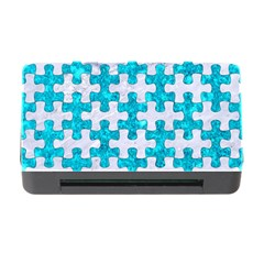 Puzzle1 White Marble & Turquoise Marble Memory Card Reader With Cf by trendistuff