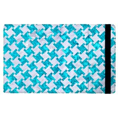 Houndstooth2 White Marble & Turquoise Marble Apple Ipad Pro 12 9   Flip Case by trendistuff