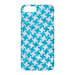 Houndstooth2 White Marble & Turquoise Marble Apple Iphone 8 Plus Hardshell Case by trendistuff