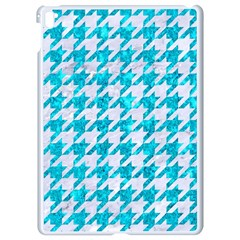 Houndstooth1 White Marble & Turquoise Marble Apple Ipad Pro 9 7   White Seamless Case