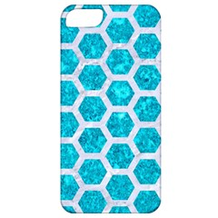 Hexagon2 White Marble & Turquoise Marble Apple Iphone 5 Classic Hardshell Case by trendistuff