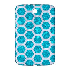 Hexagon2 White Marble & Turquoise Marble Samsung Galaxy Note 8 0 N5100 Hardshell Case  by trendistuff