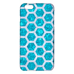 Hexagon2 White Marble & Turquoise Marble Iphone 6 Plus/6s Plus Tpu Case by trendistuff