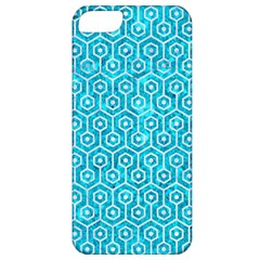 Hexagon1 White Marble & Turquoise Marble Apple Iphone 5 Classic Hardshell Case by trendistuff