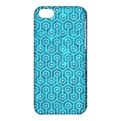 Hexagon1 White Marble & Turquoise Marble Apple Iphone 5c Hardshell Case by trendistuff