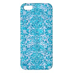 Damask2 White Marble & Turquoise Marble (r) Iphone 5s/ Se Premium Hardshell Case by trendistuff