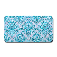 Damask1 White Marble & Turquoise Marble (r) Medium Bar Mats by trendistuff