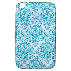 Damask1 White Marble & Turquoise Marble (r) Samsung Galaxy Tab 3 (8 ) T3100 Hardshell Case  by trendistuff