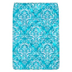 Damask1 White Marble & Turquoise Marble Flap Covers (l)  by trendistuff