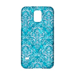 Damask1 White Marble & Turquoise Marble Samsung Galaxy S5 Hardshell Case  by trendistuff