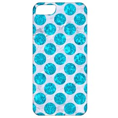 Circles2 White Marble & Turquoise Marble (r) Apple Iphone 5 Classic Hardshell Case by trendistuff